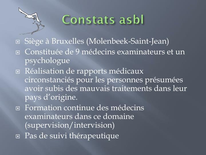 Constats asbl