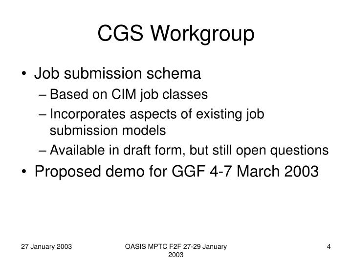 CGS Workgroup