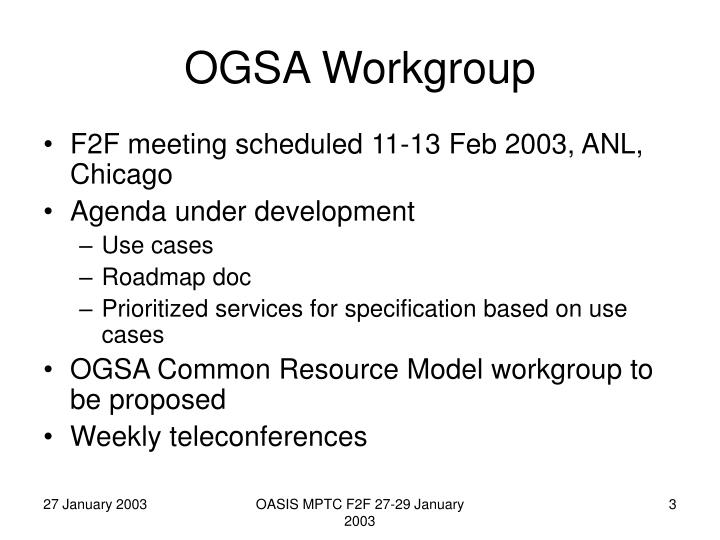 Ogsa workgroup