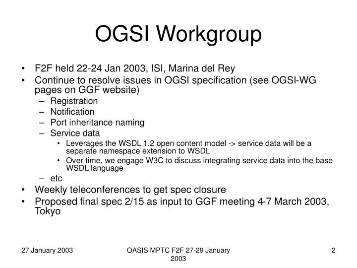 Ogsi workgroup