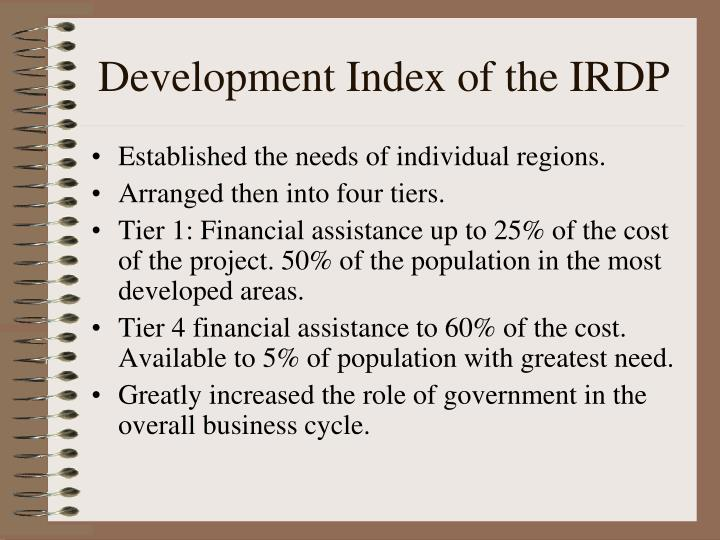 Development Index of the IRDP
