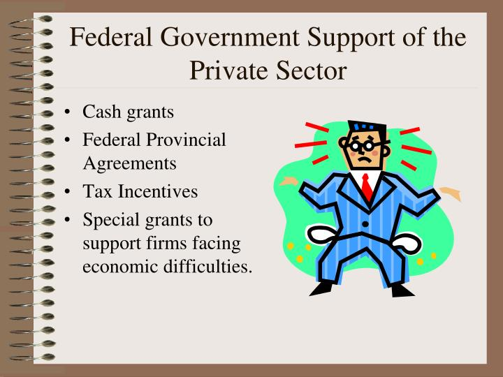 Federal Government Support of the Private Sector