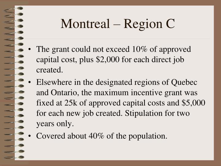 Montreal – Region C