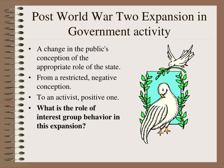 Post World War Two Expansion in Government activity
