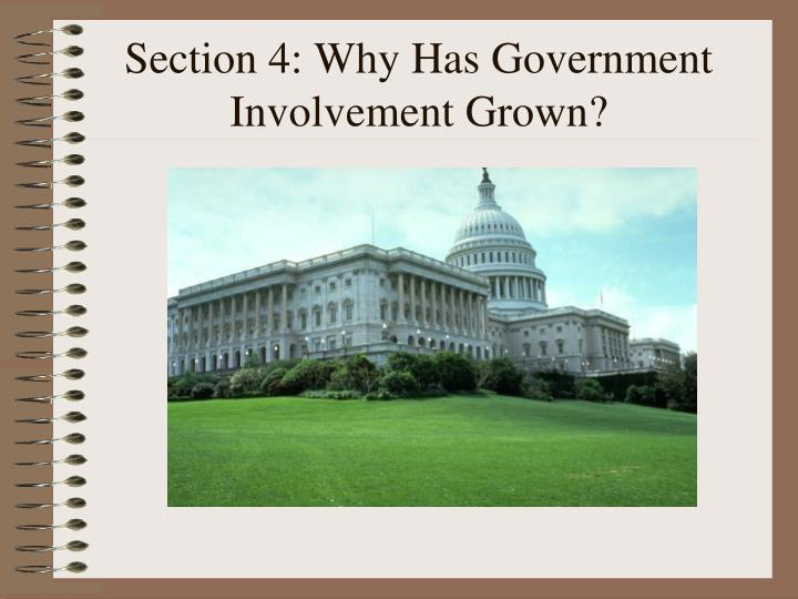 Section 4: Why Has Government Involvement Grown?