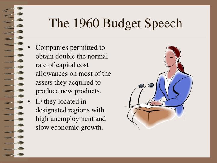 The 1960 Budget Speech