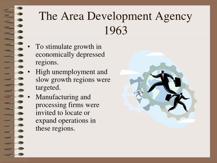The Area Development Agency 1963