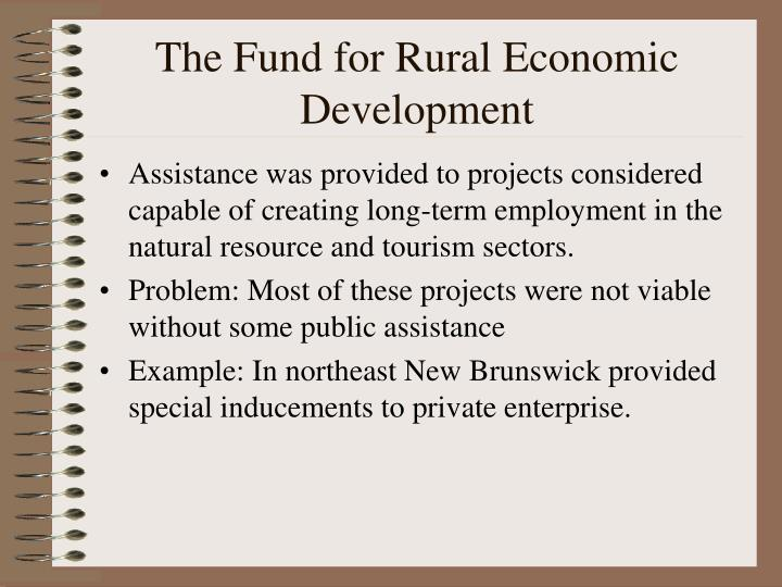 The Fund for Rural Economic Development