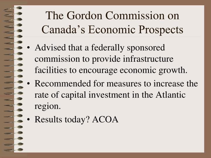 The Gordon Commission on Canada's Economic Prospects