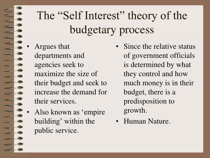 Argues that departments and agencies seek to maximize the size of their budget and seek to increase the demand for their services.