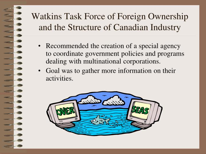 Watkins Task Force of Foreign Ownership and the Structure of Canadian Industry