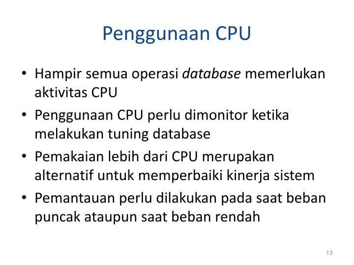 Penggunaan CPU