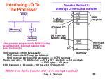 transfer method 2 interrupt driven data transfer