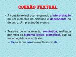 coes o textual