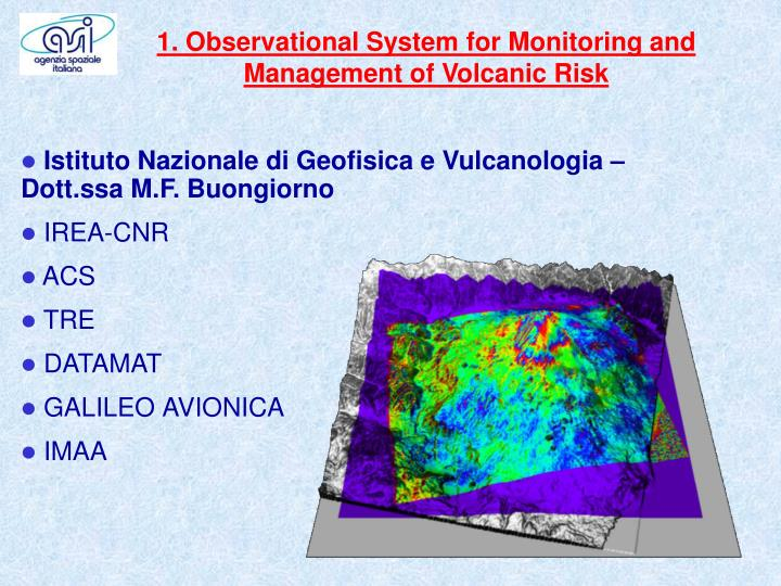 1. Observational System for Monitoring and Management of Volcanic Risk