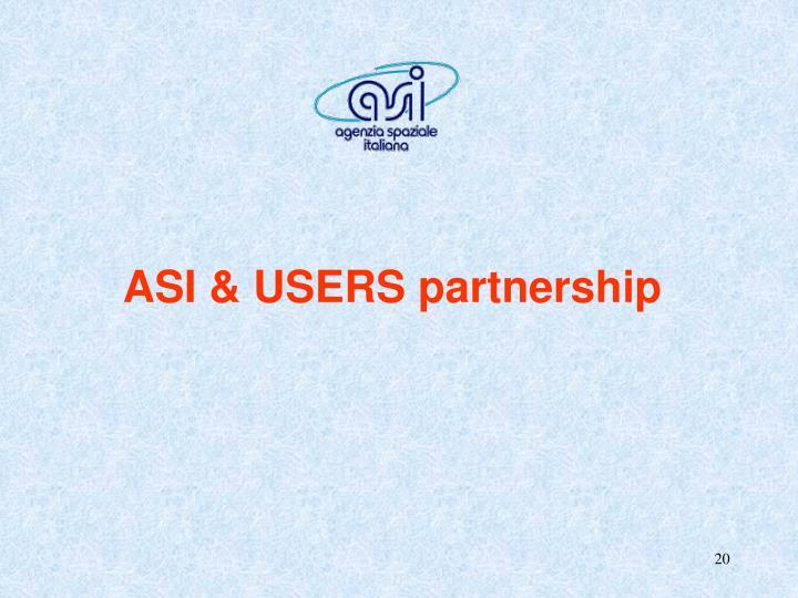ASI & USERS partnership