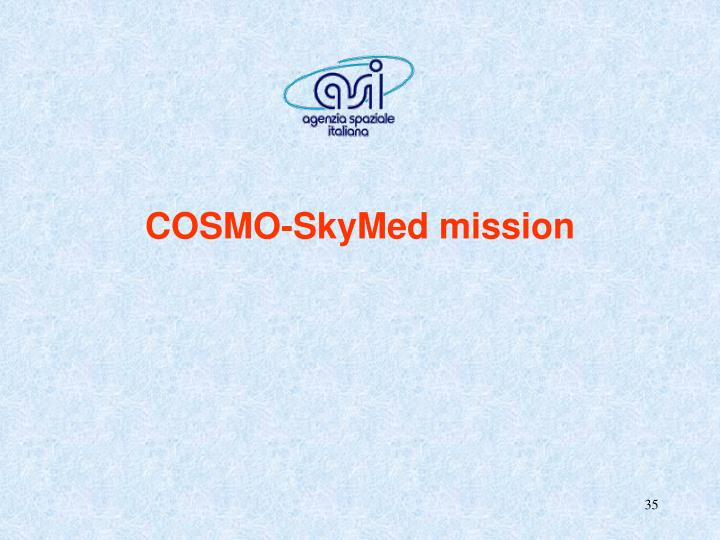 COSMO-SkyMed mission