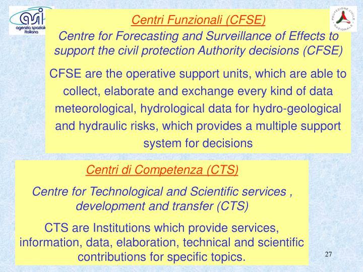 Centri Funzionali (CFSE)