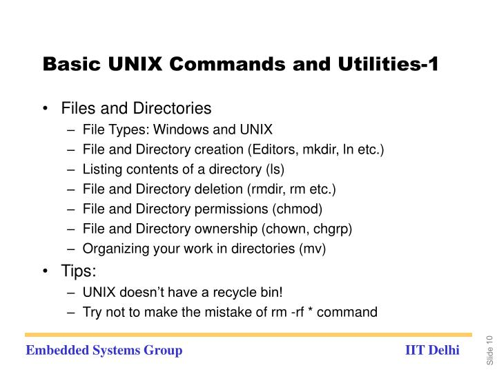 Basic UNIX Commands and Utilities-1