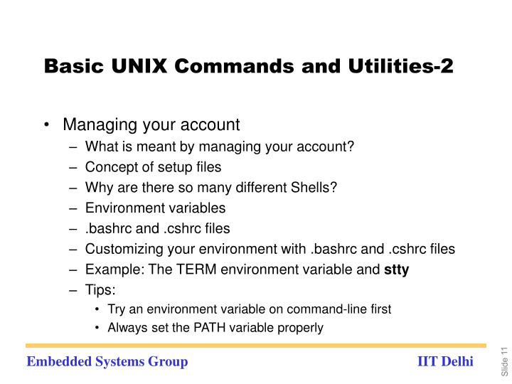 Basic UNIX Commands and Utilities-2