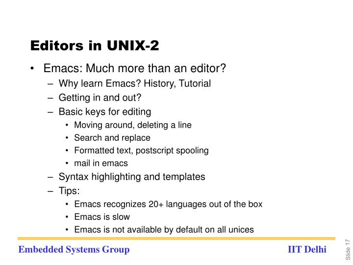Editors in UNIX-2