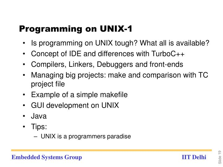 Programming on UNIX-1