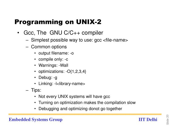 Programming on UNIX-2