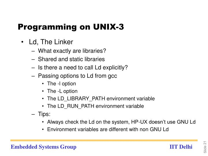 Programming on UNIX-3