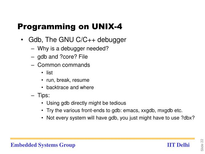 Programming on UNIX-4