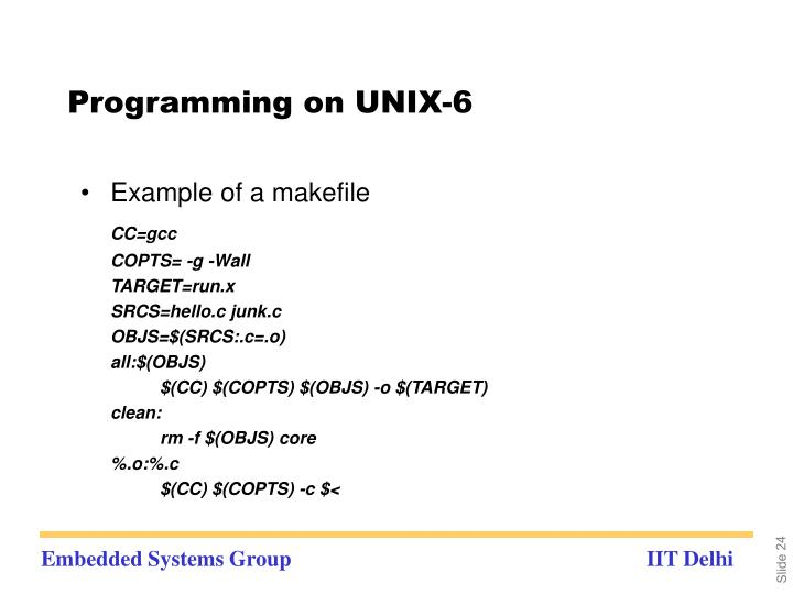 Programming on UNIX-6