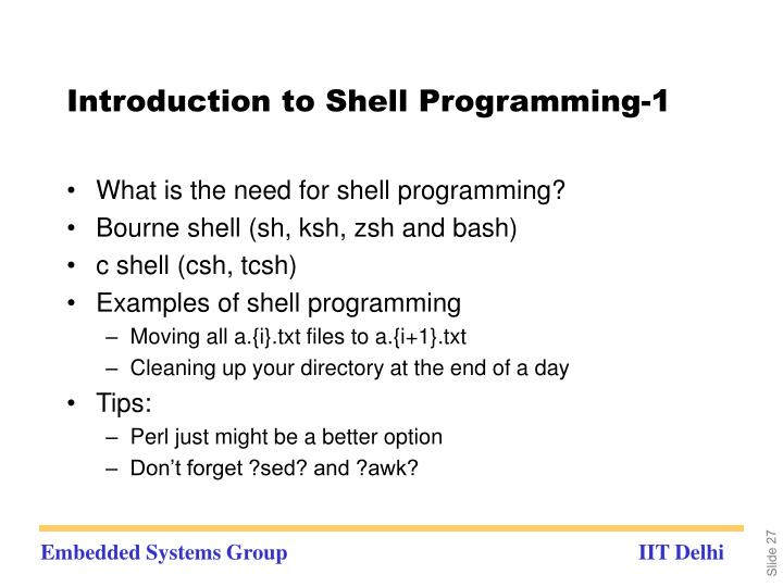 Introduction to Shell Programming-1