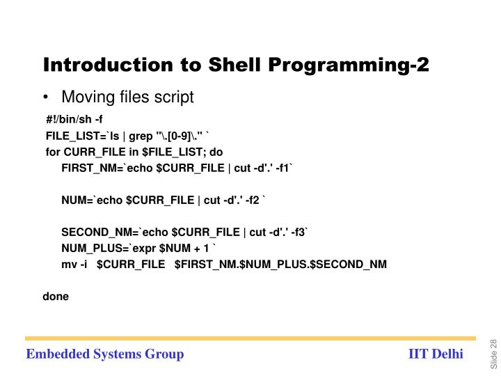 Introduction to Shell Programming-2
