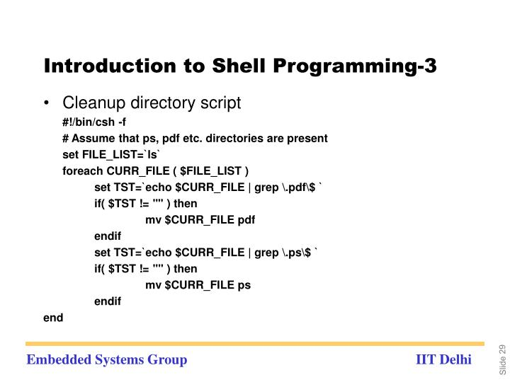 Introduction to Shell Programming-3