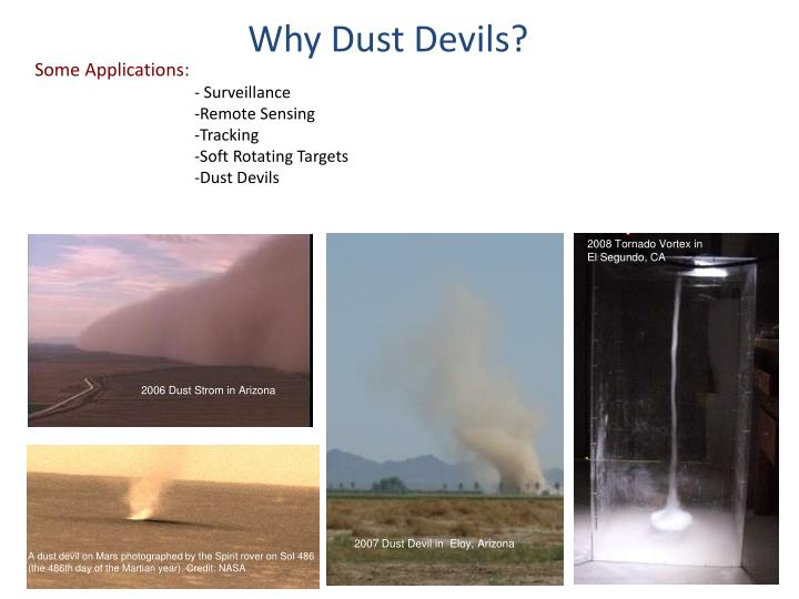 Why Dust Devils?