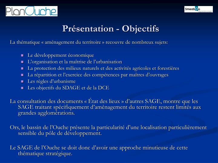 Présentation - Objectifs