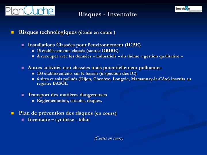Risques - Inventaire