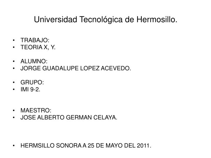 Universidad tecnol gica de hermosillo