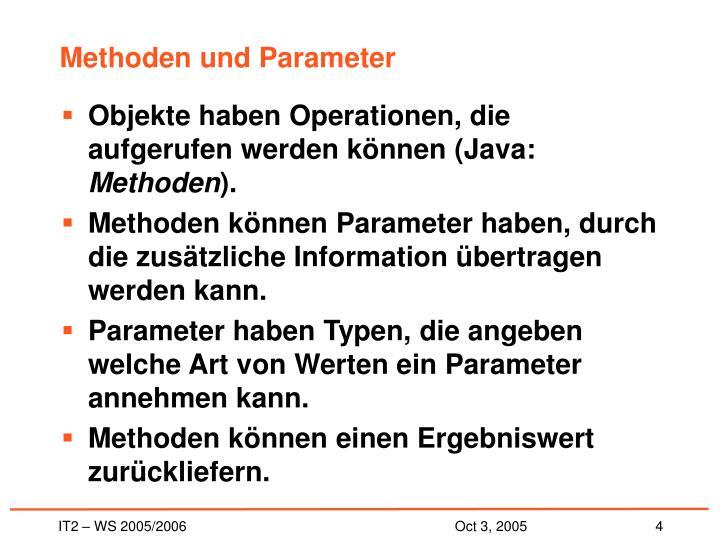 Methoden und Parameter