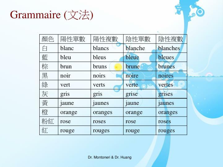 Grammaire (