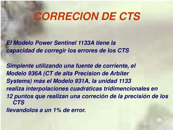 CORRECION DE CTS