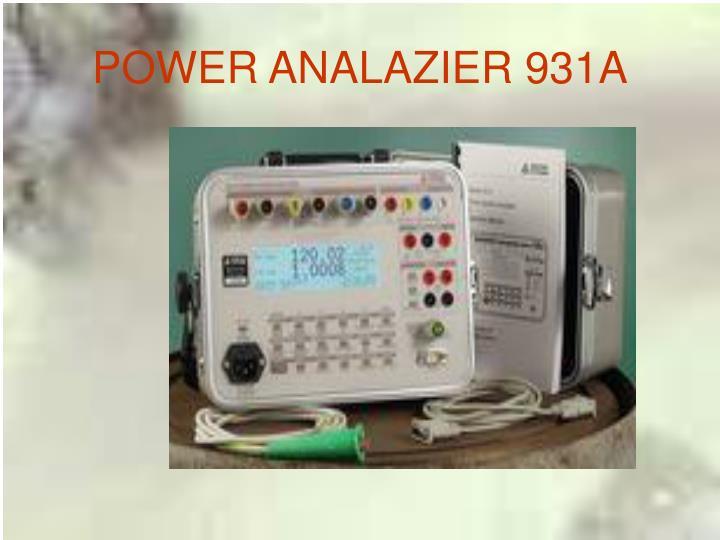 POWER ANALAZIER 931A