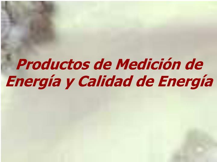 Productos de Medición