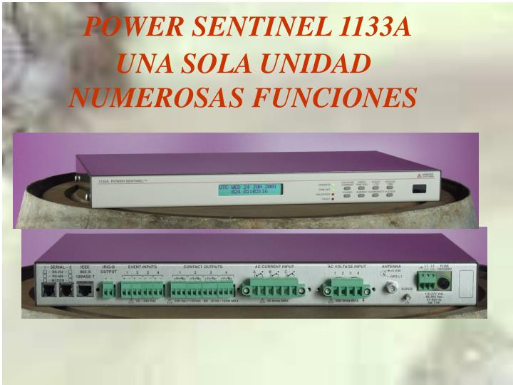 POWER SENTINEL 1133A