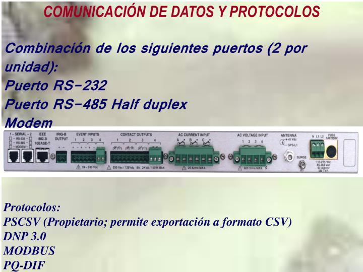 COMUNICACIÓN DE DATOS Y PROTOCOLOS