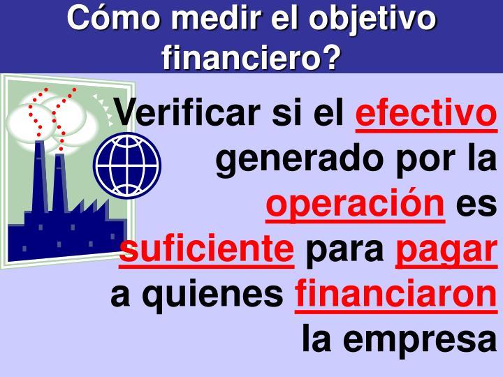 Cómo medir el objetivo financiero?