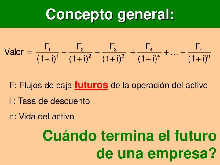 Concepto general: