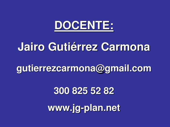 DOCENTE: