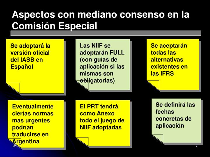Aspectos con mediano consenso en la Comisión Especial