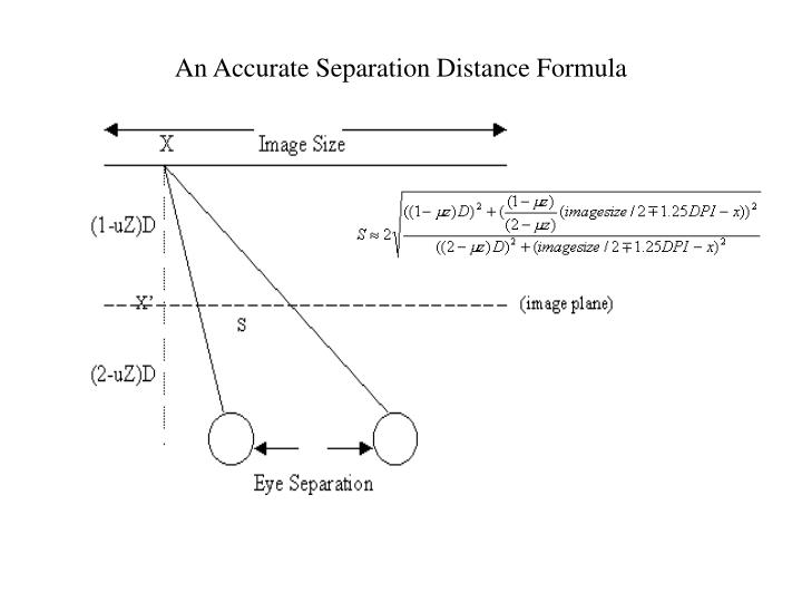 An Accurate Separation Distance Formula