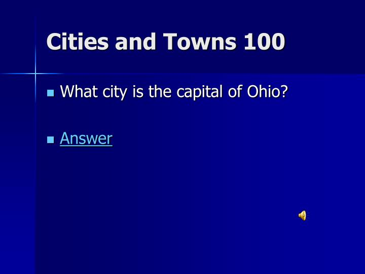 Cities and Towns 100